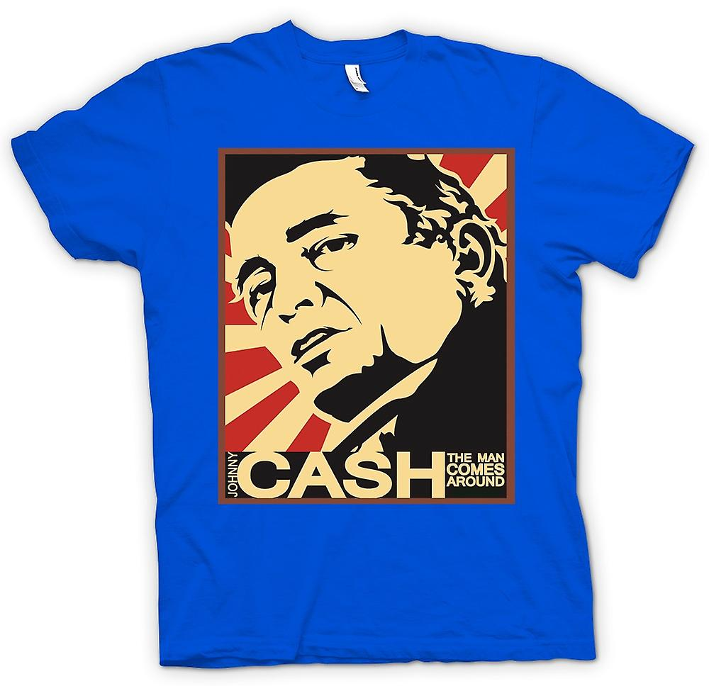 Mens T-shirt - Johnny Cash - Man Comes Around