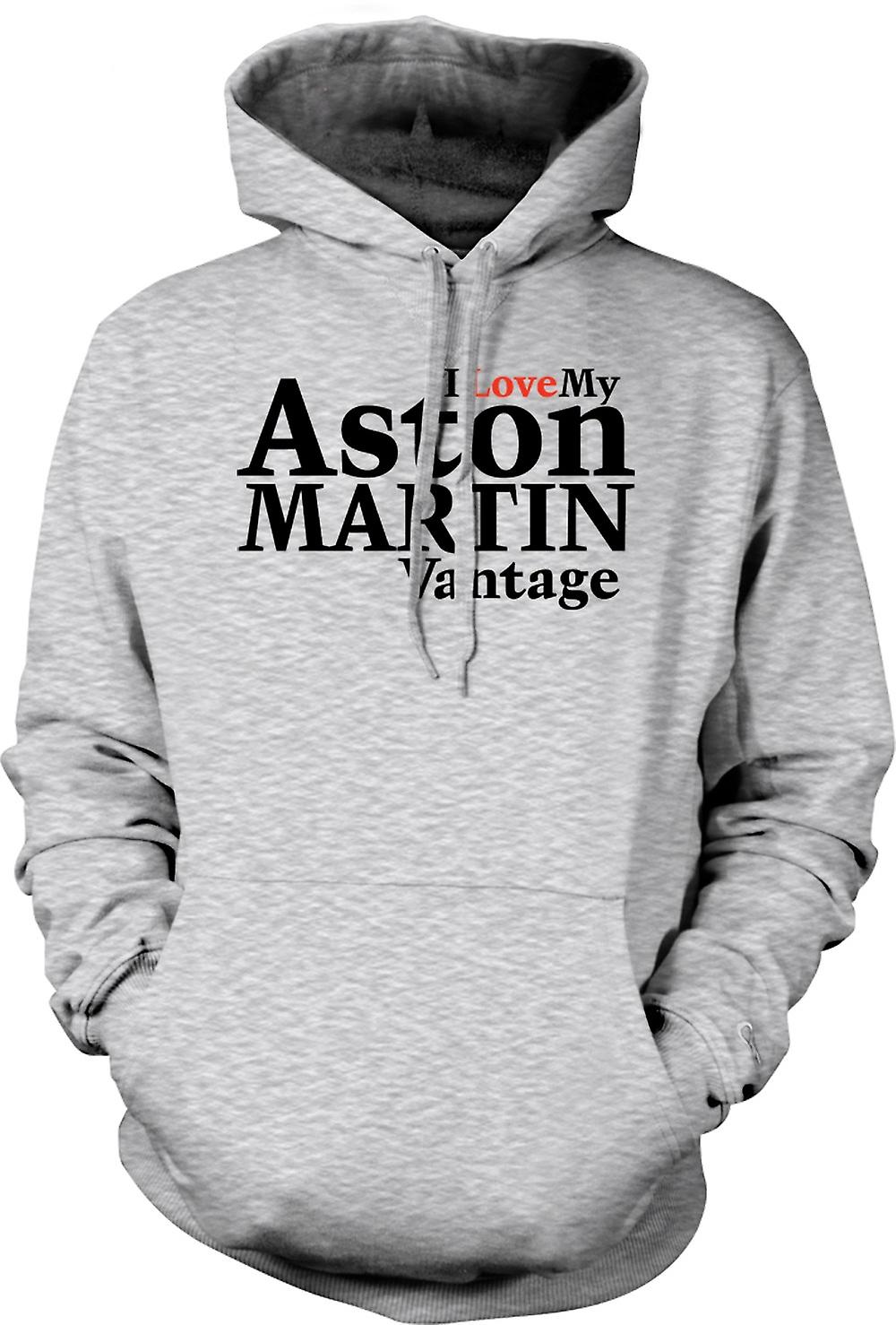 Mens Hoodie - I Love My Aston Martin Vantage - Car Enthusiast