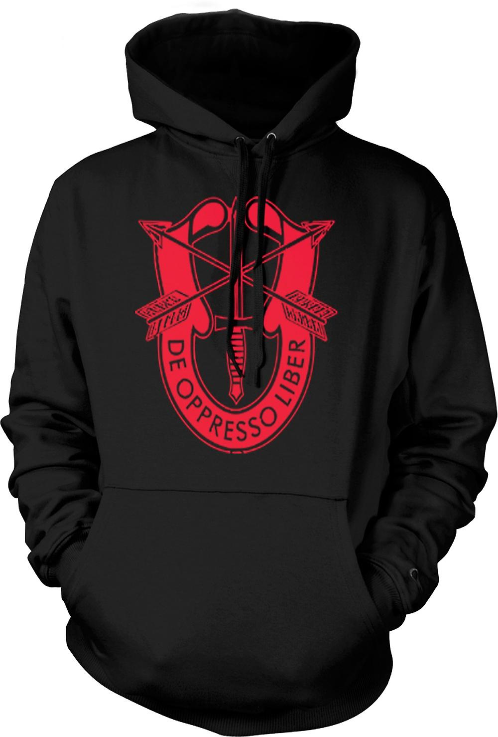 Mens Hoodie - De Oppresso Liber U.S. Special Forces Batch