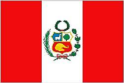 Peru Flag 5ft x 3ft With Eyelets For Hanging