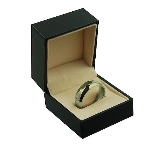 9ct Gold 8mm plain Court shaped Wedding Ring Size Z