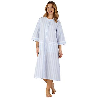 Slenderella HC3224 Women's Woven Striped Robe Dressing Gown