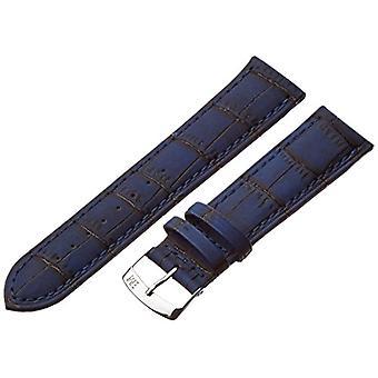 Morellato black leather strap 22 mm blue Larch A01U3936A70062CR22 man