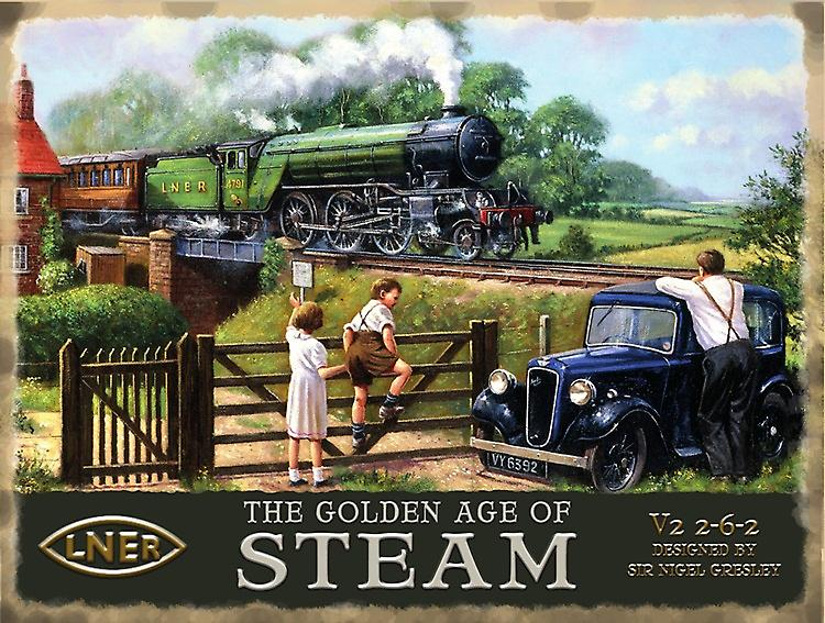 Golden Age Of Steam (LNER/Austin 7) metal sign   (og 3040)