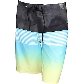 Quiksilver Mens Highline Lava Division Boardshorts - Cyan Blue
