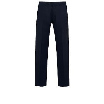 Dobell Mens Navy Suit Trousers Regular Fit