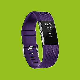 Für Fitbit Charge 2 Kunststoff / Silikon Armband für Männer / Größe L Lila Uhr