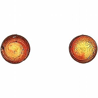 Ladies Antica Murrina Caterina Sterling Silver Red/Gold Murano 5mm Stud Earrings