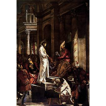 Christ before Pilate,Jacopo Tintoretto,60x40cm