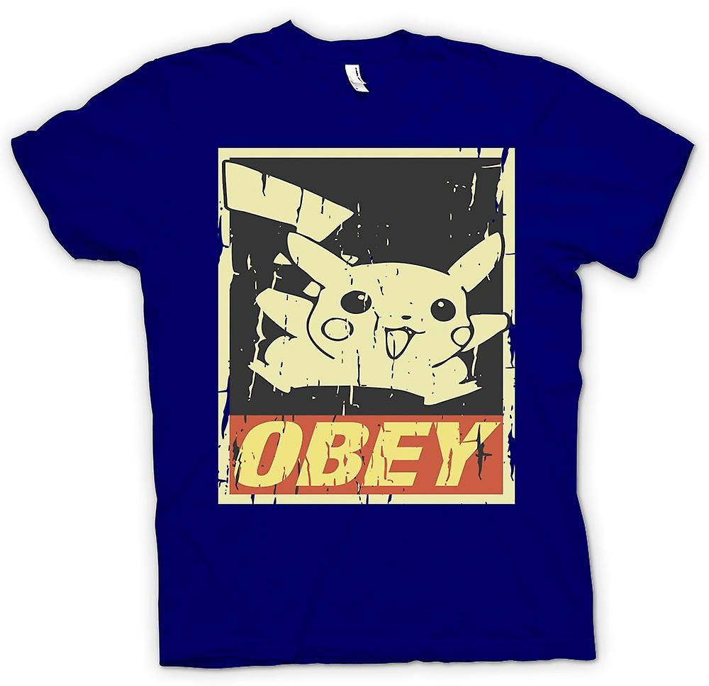 Mens T-shirt-Pikachu gehorchen - Cool Pokemon inspiriert