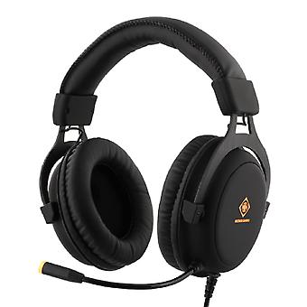 DELTACO GAMING headset, 57mm element, LED, zwart