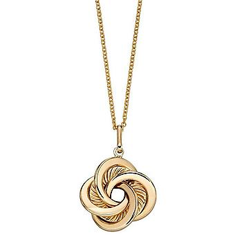 Elements Gold Swirl Detail Pendant - Gold