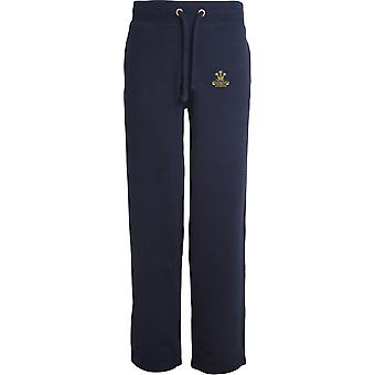 Royal Hussars PWO Veteran - Licensed British Army Embroidered Open Hem Sweatpants / Jogging Bottoms
