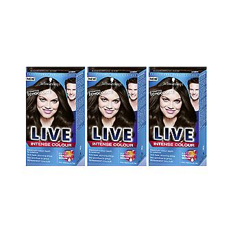 Schwarzkopf LIVE Intense 880 Tempting Chocolate Pro Perm Hair Colour Dye 3 For 2