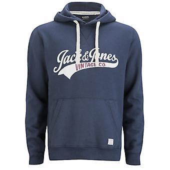 Jack and Jones Access Hood EXP 13 Track & Field Navy Blue Hoodie