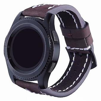 Leather Bracelet Sature Samsung Gear S3 Frontier/classic (Brown)