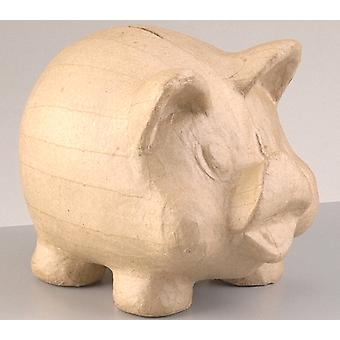 19cm Pig Paper Mache Money Box to Decorate | Papier Mache Boxes