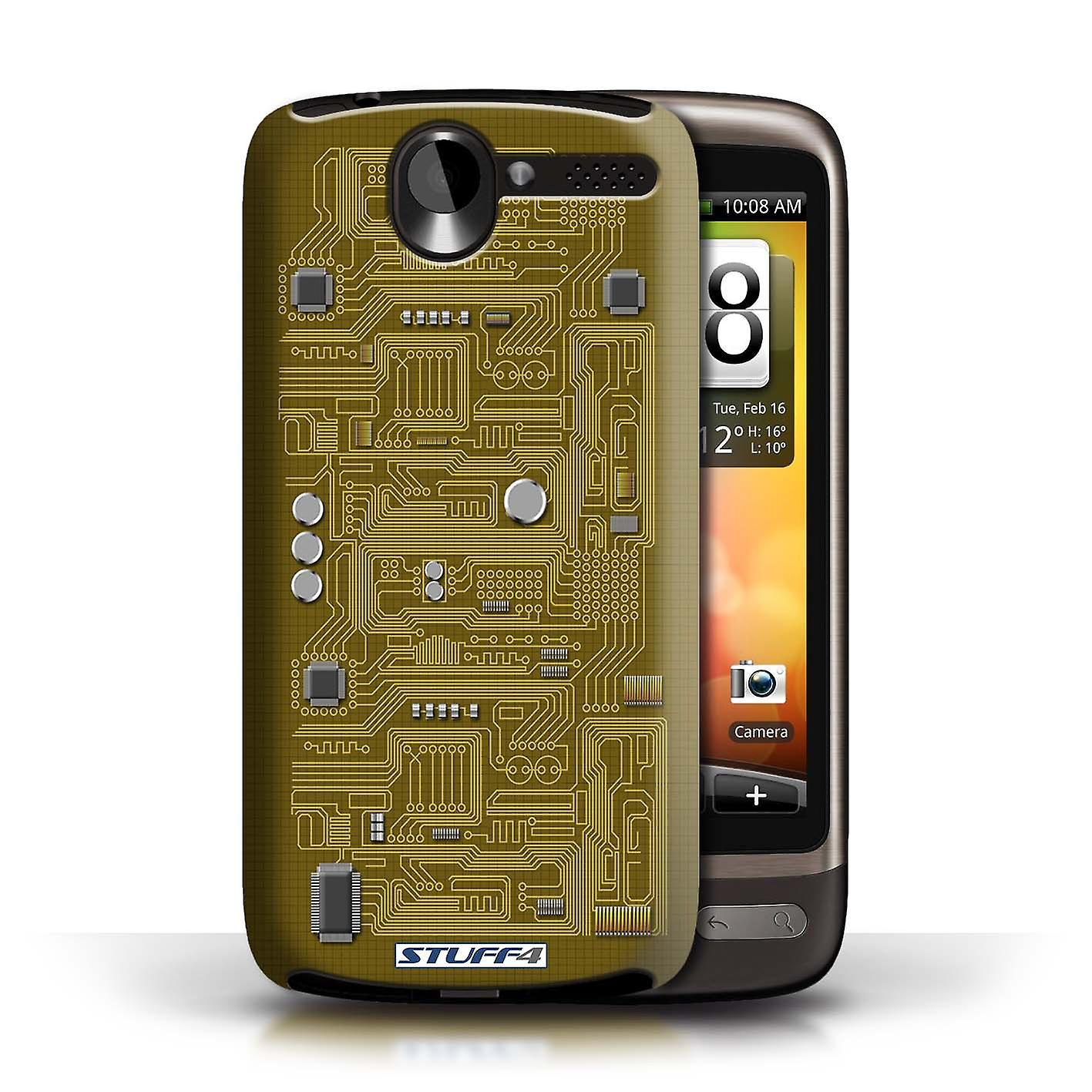 stuff4 case cover for htc desire g7 yellow circuit board. Black Bedroom Furniture Sets. Home Design Ideas