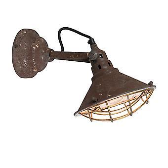 Lámpara de pared QAZQA cuartel blanco y gris rústico