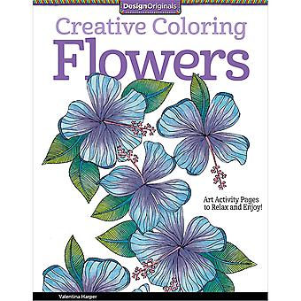 Design Originals-Creative Coloring Flowers DO-5505