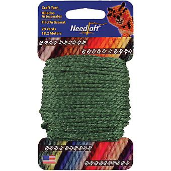 Needloft Craft Yarn 20 Yard Card Holly 27 510