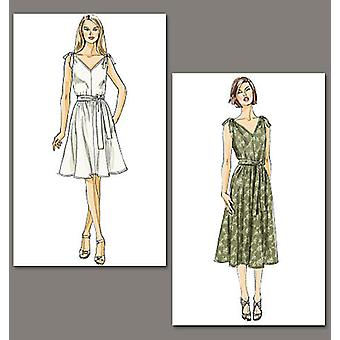 Misses' Dress And Sash  F5 16  18  20  22  24 Pattern V8645  F50