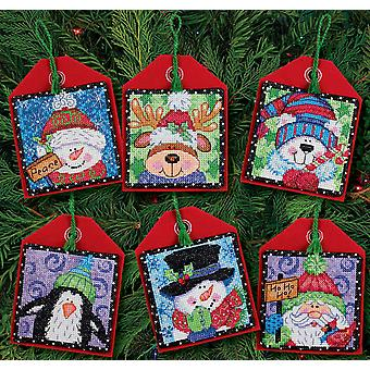 Christmas Pals Ornaments Counted Cross Stitch Kit 4 1 2