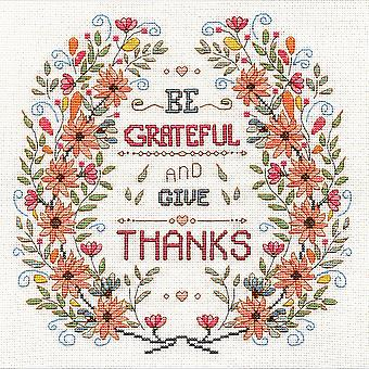 Be Grateful Counted Cross Stitch Kit-10