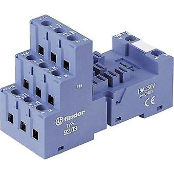 Finder 92.03 Screw Socket 92.03 Screw socket, snaps onto DIN rail, EMC/timer module position