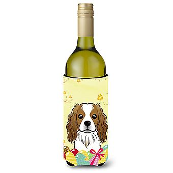 Cavalier Spaniel Easter Egg Hunt Wine Bottle Koozie Hugger BB1906LITERK