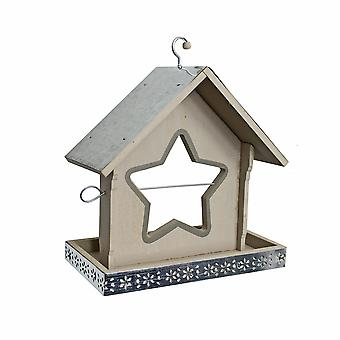 Grey Painted Garden Bird Feeder with Star Shaped Apple Holder