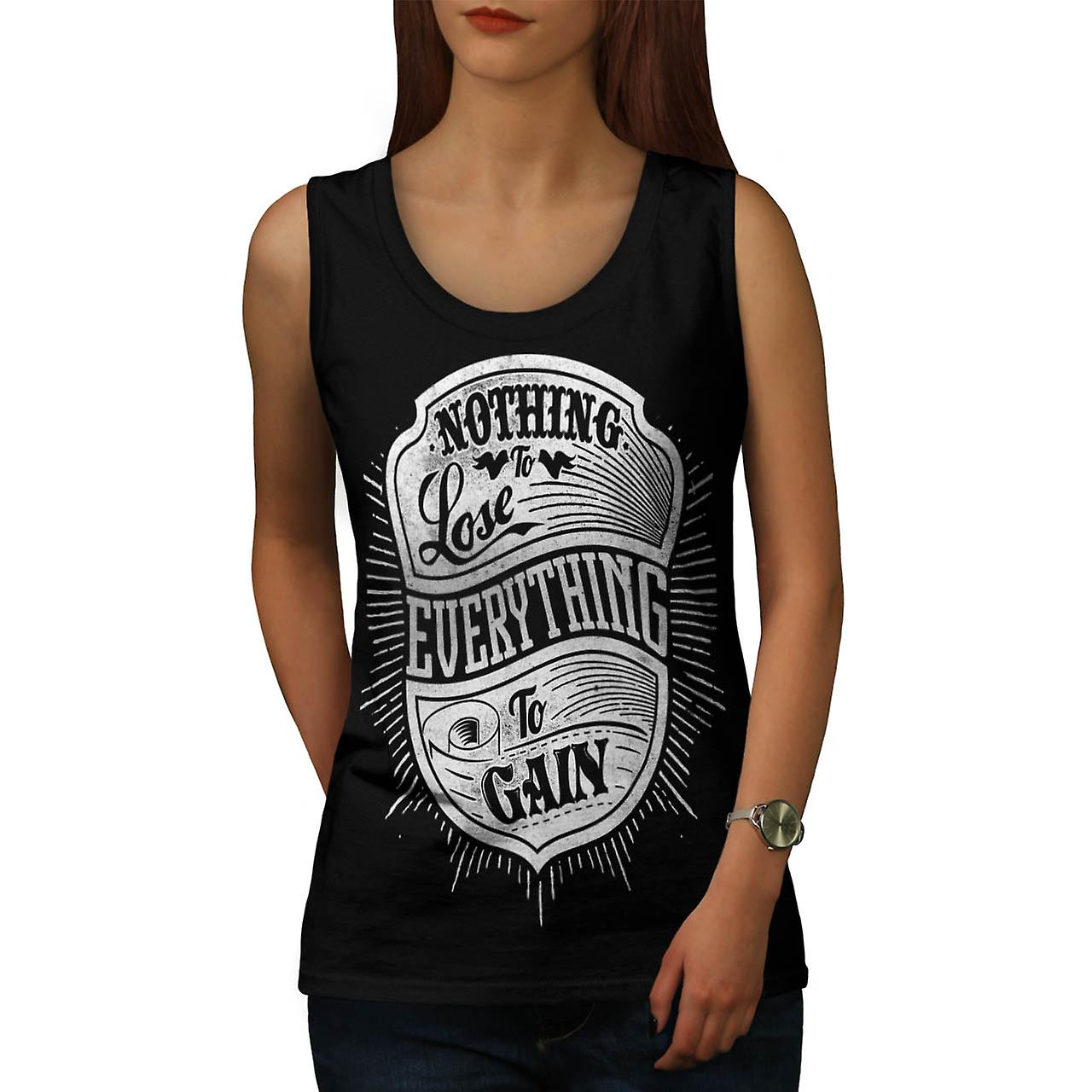 Nothing Lost Gain Gym Everything Women Black Tank Top | Wellcoda