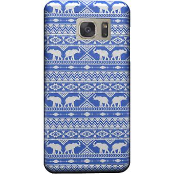 Olifant Tribal blauwe cover voor Galaxy S7
