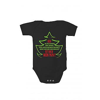 Rompers baby bodysuits, pressing Christmas body Papa Santa Claus gift