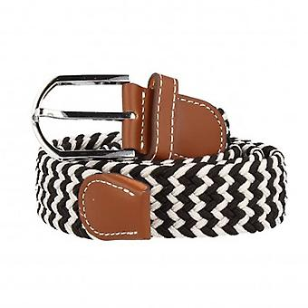 7details woven Belt Belt Black and white