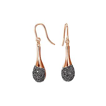 ESPRIT women's earrings silver Rosé cubic zirconia raindrop Glam ESER92469B000