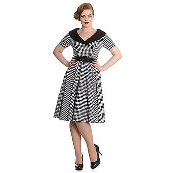 Hell Bunny Black & White Bridget 50's Dress XXL