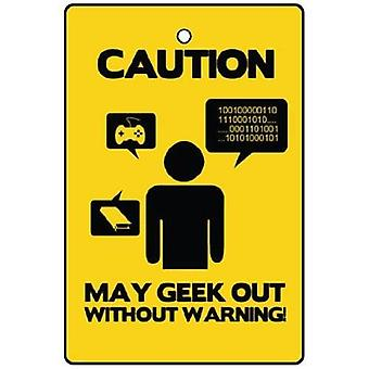 Caution May Geek  Out Car Air Freshener
