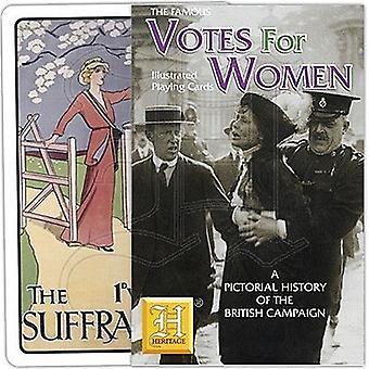 Votes For Women Suffragettes set of 52 playing cards (+ jokers)    (hpc)