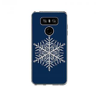 Blue Snowflake cover for LG G6