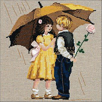First Date Counted Cross Stitch Kit-12