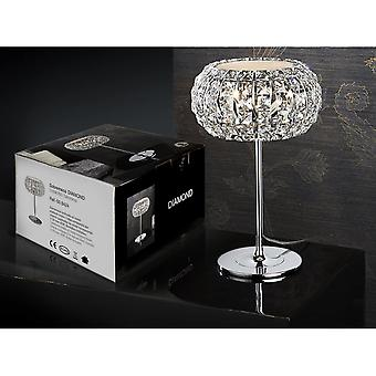 Schuller Crystal Diamond Dome Table Lamp