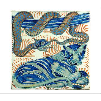 De Morgan William - tile Poster Print Giclee