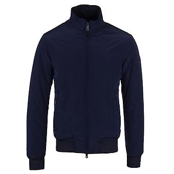 Armani Jeans Navy Padded Concealed Hooded Blouson Jacket