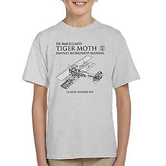 Haynes eiere Workshop manuell de Havilland Tiger Moth Kids t-skjorte