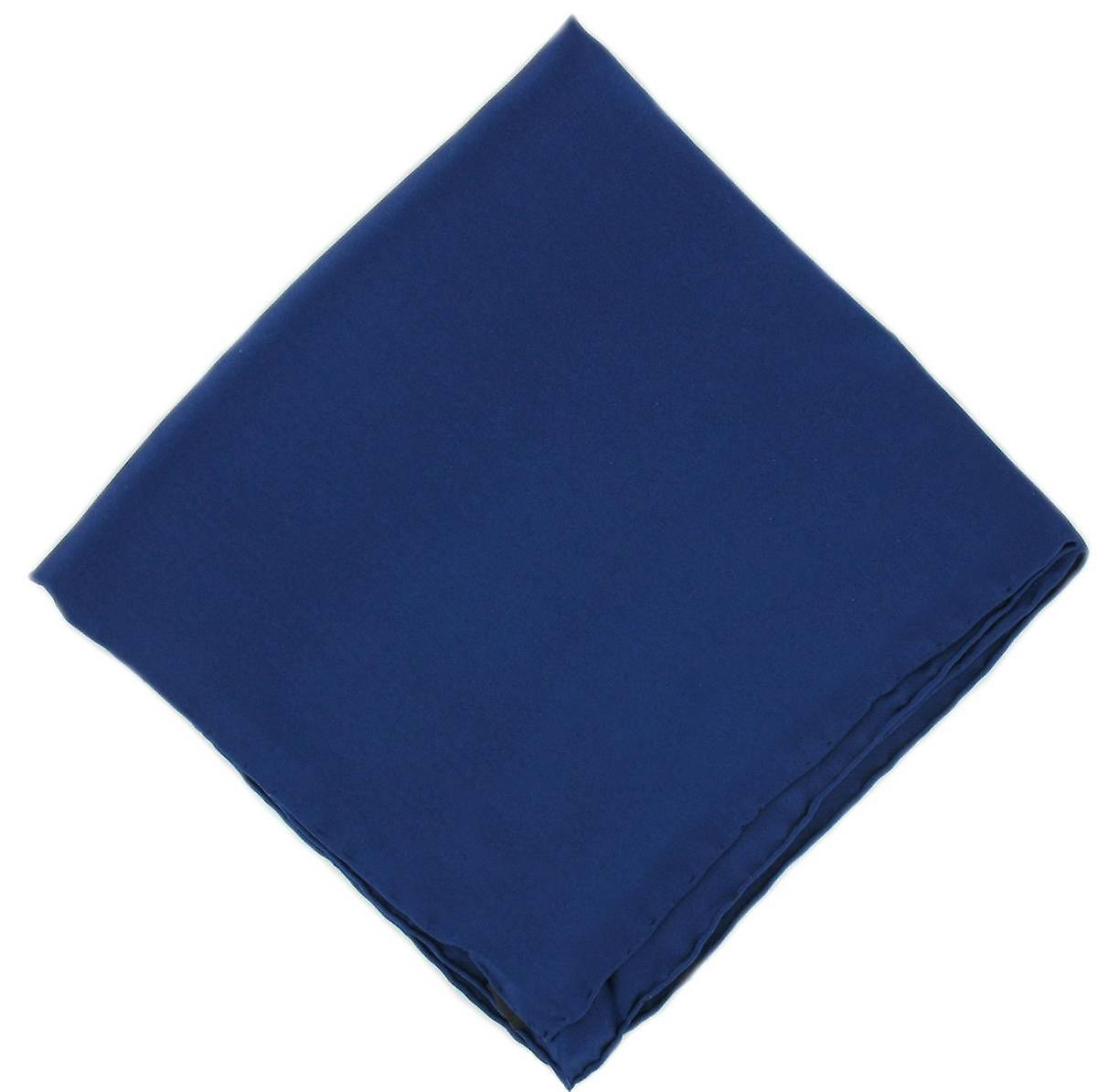 Michelsons of London Plain Silk Handkerchief - Navy