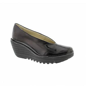 Fly London Yaz - Black Luxor (Leather) Womens Shoes