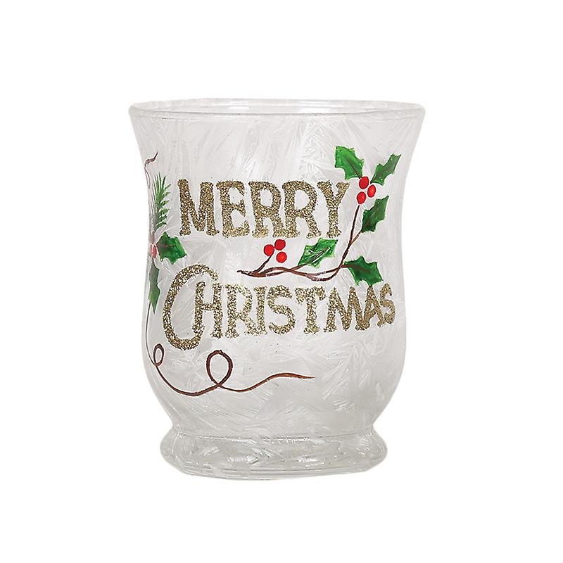 Aroma Merry Christmas Hurricane Candle Holder