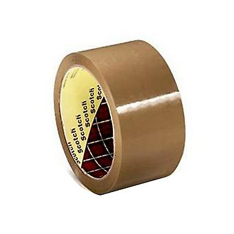 Scotch 371 Polypropylene Buff Parcel Tape (Pack Of 6)