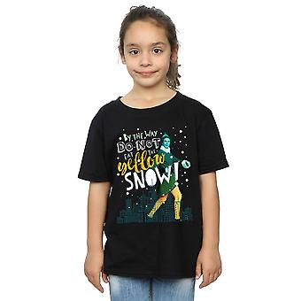 Elf Girls Yellow Snow T-Shirt